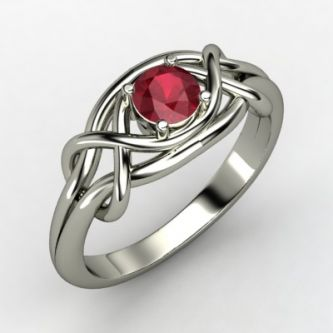 gemvara wedding ring style infinity knot engagement ring