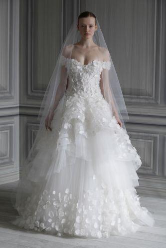 Monique lhuillier wedding dress style petal onewed for Price of monique lhuillier wedding dresses