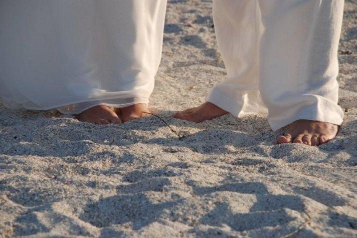 The best part of a beach wedding