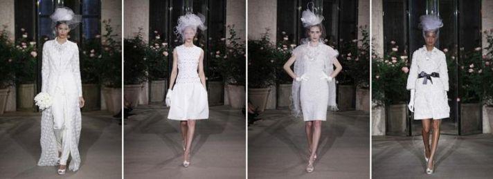 Oscar de la Renta- Spring 2010 bridal collection- dresses go short!