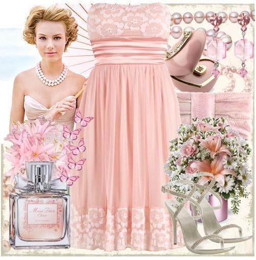 Light pink, flowers, and butterflies bring a whimsical feel to any wedding