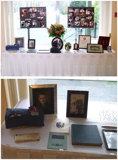 Memorial table at your wedding reception with photos, albums, keepsakes, etc.