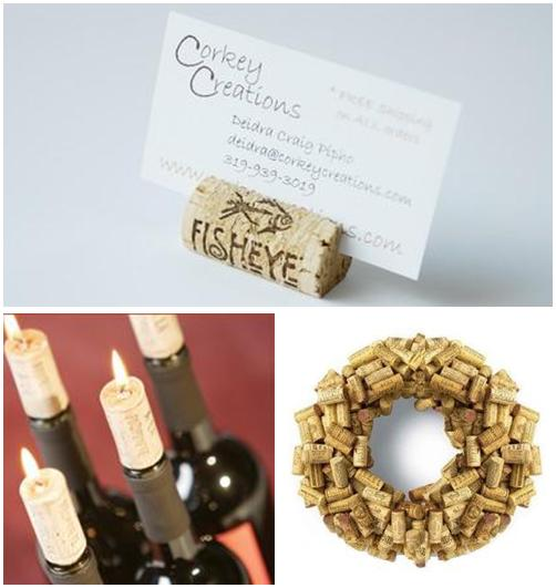 Wine corks are perfect as escort place card holders or make a cute wine
