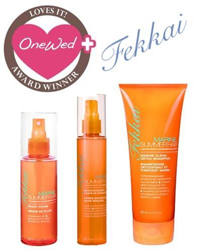OneWed loves Frederic Fekkai marine summer hair products for sexy wedding hair