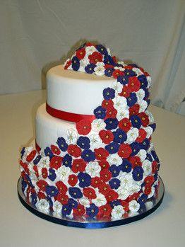 Patriotic flower cake