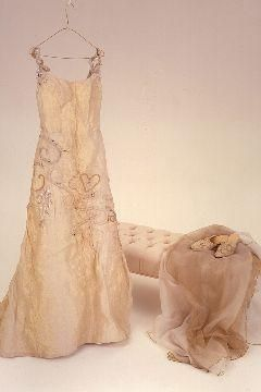 Romantic look- ivory wedding dress with romantic details and beading