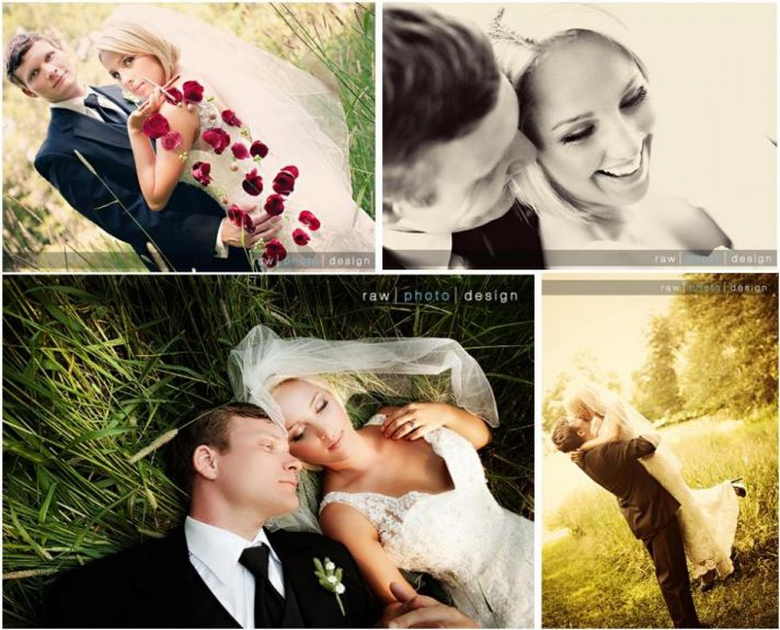 Bride and groom lay outside in grass together, so in love