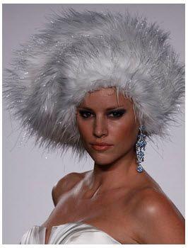 Priscilla of Boston Platinum: Bridal faux fur hat