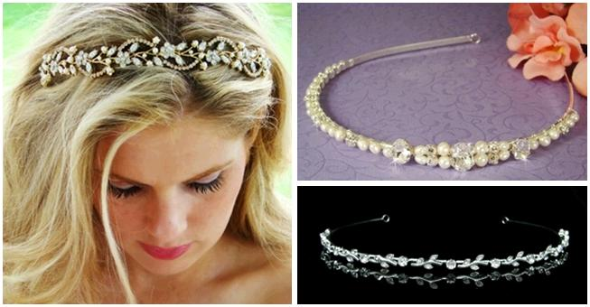 Bridal hairbands and headbands rhinestones pearls vines and more