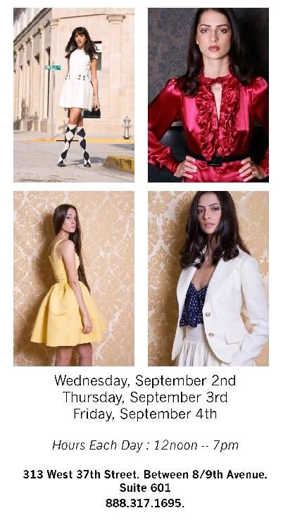 Chloe and Reese sample sale in New York- Sept. 2nd- Sept. 4th