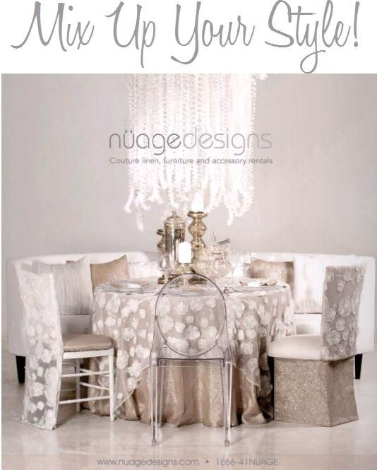 Gorgeous cream, ivory, white, champagne tablescape- mixes traditional and modern in a chic way