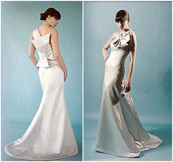 Caroline DeVillo Couture Wedding Dresses- Stunning with oversized origami and flower details