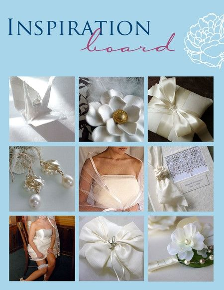 Soft satin is perfect for an elegant wedding- get inspired by this white, gold and ivory inspiration