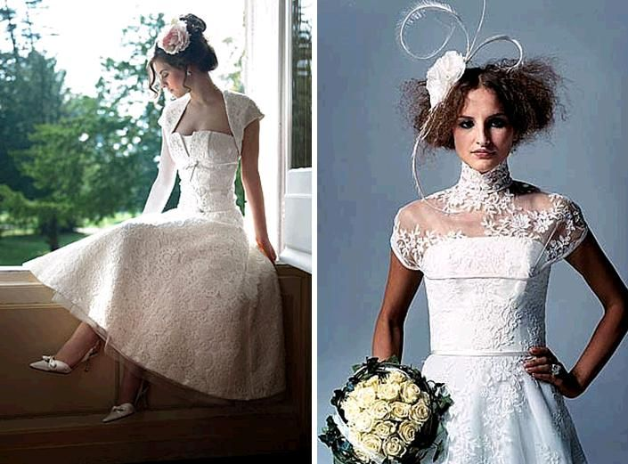Gorgeous lace wedding dresses with a modern chic twist Credit none