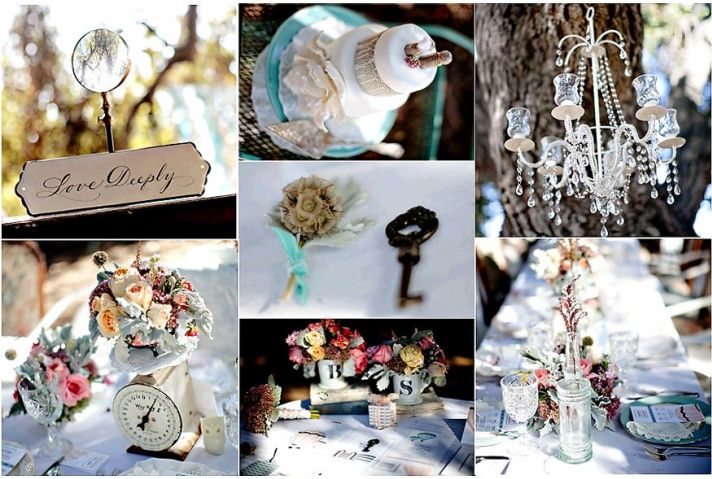 Gorgeous garden-themed outdoor wedding shoot, chandelier hands from tree, gorgeous white, pink and a