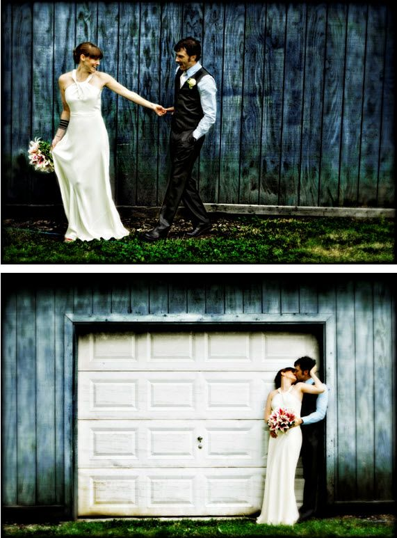 bride and groom artistic wedding photographs