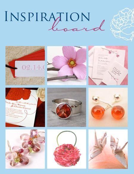 Red, pink and white wedding inspiration- letterpress weddding stationery, lovely flower accessories,