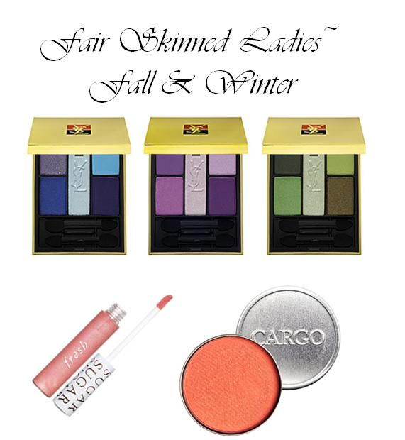 Best make-up colors for fair skinned brides-to-be: fall and winter seasons