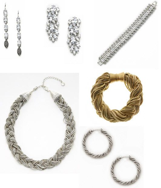 Stunning gold and silver Nicole Miller jewelry, perfect for your wedding day!