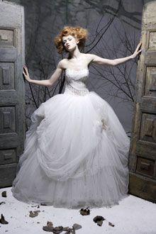 Whimsical strapless Amelia Casablanca ballgown wedding dress with tulle skirt
