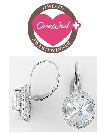 These beautiful silver earrings are perfect wedding day earrings.