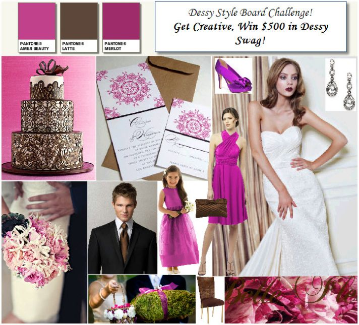 Chocolate brown and fuschia wedding inspiration! Chic, vibrant and fun!