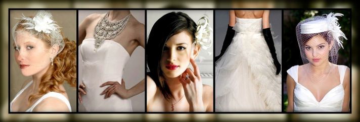 Wishpot's favorite wedding accessories include large necklaces, birdcage veils, and gloves of all co