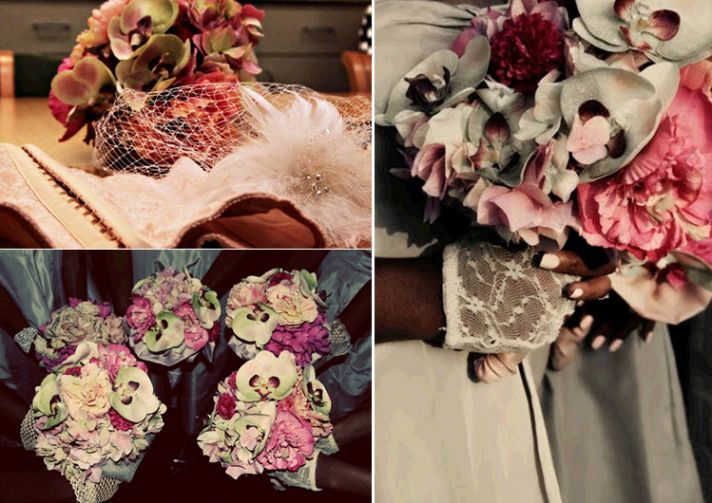 Gorgeous silk florals for your wedding