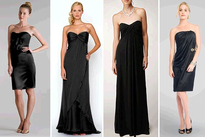 Let your bridesmaids choose their own little black dresses for your wedding!