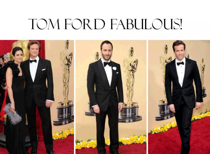 Tom Ford dressed many of the men at the Oscars, and they all looked fab!