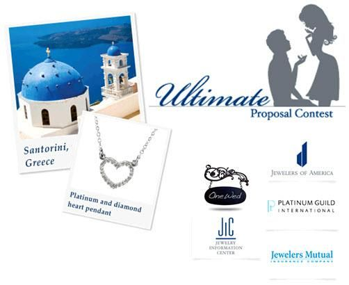 You can tell your proposal story for a chance to win a getaway in Greece and platinum jewelry.