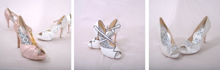 These bridal shoes from Hey Lady are vintage with a modern twist and totally adorable wedding shoes.