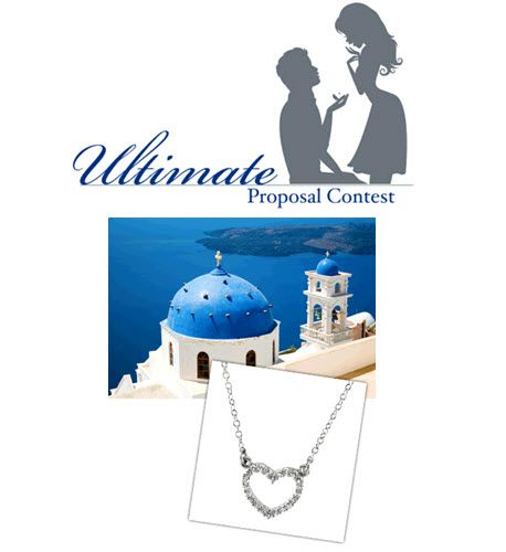Ultimate Proposal Contest giveaway- win getaway to Santorini, Greece and platinum jewelry!