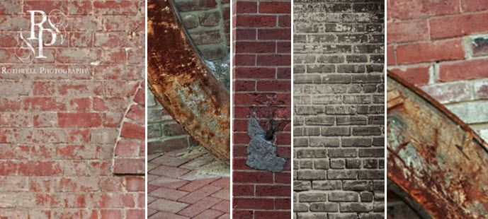 Rustic brick city backdrop for a beautiful, fashion-forward engagement session