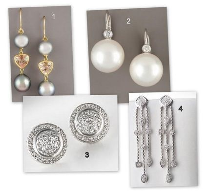 These pearl and silver earrings can be worn on your wedding day or after. The earrings are in a vari
