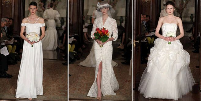 Spring 2011 wedding dresses by Carolina Herrera- high fashion and couture from the catwalk