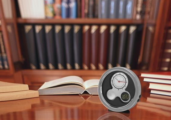 Pick up this slick, modern desk clock for your dad for Father's Day
