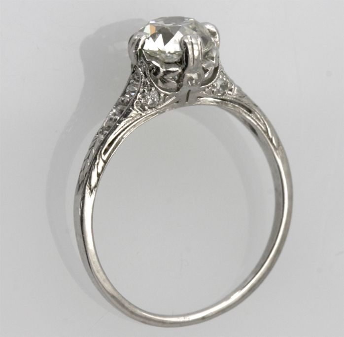 This engagement ring is similar to Megan Fox's platinum and diamond 1930s engagement ring