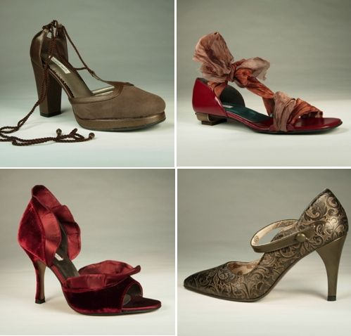 Rich and eco-friendly bridal heels by Charmone