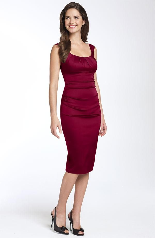 ... neck bridesmaid dress from Nordstrom is perfect for a fall wedding