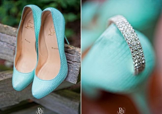 christian louboutin tiffany blue wedding shoes