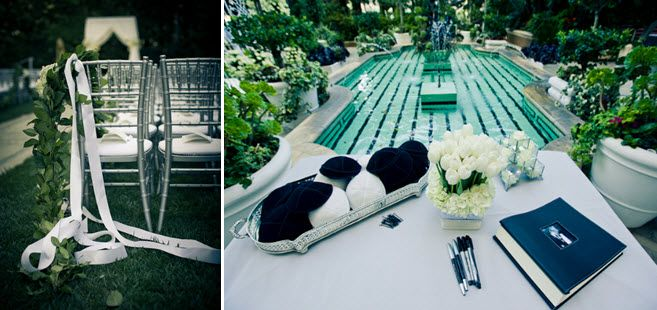 Wedding ceremony space- outdoor poolside in Beverly Hills, Ca!