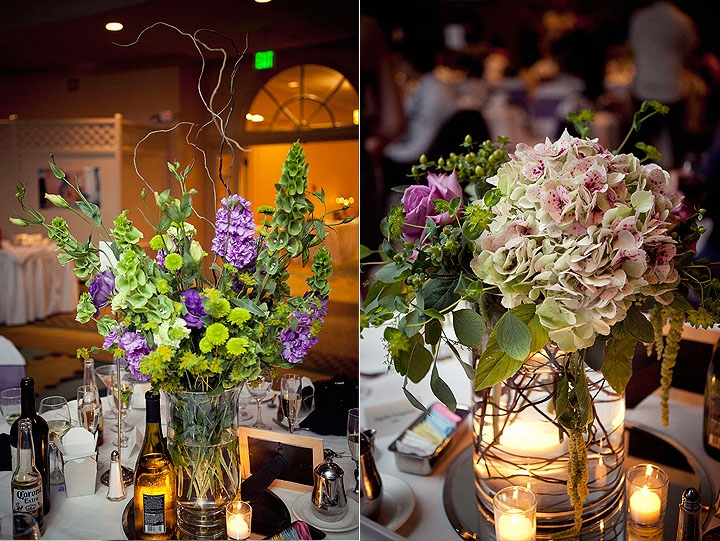 Romantic Wedding Reception Decor Wedding Flowers Table Centerpieces