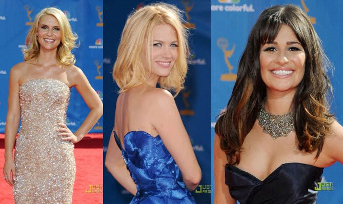 Red Carpet at 2010 Emmys: Sexy, shiny tousled waves was a popular hairstyle among A-listers