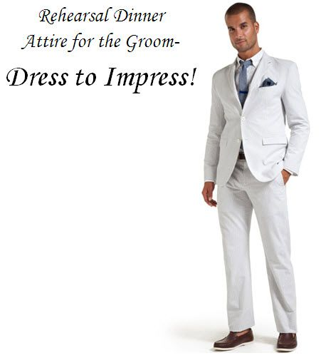 Show your sense of style at the rehearsal dinner, grooms and groomsmen!