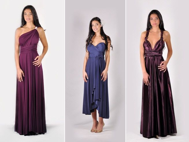 Let your bridesmaids show off their stylish side with a dress they can wear 12 different ways!