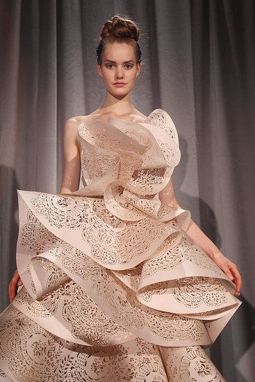 Not every bride would be comfortable in this ruffled pink wedding dress from Marchesa