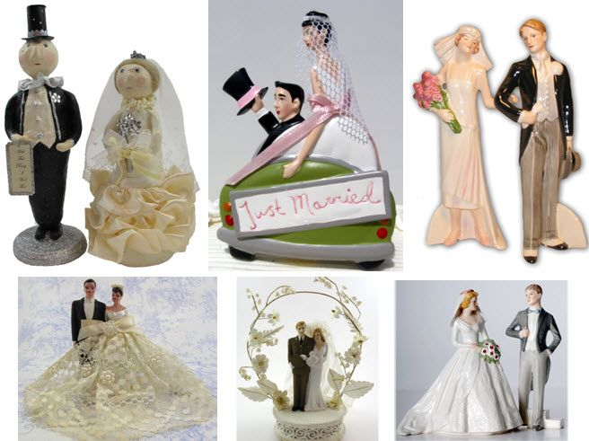 Antique & vintage wedding cake toppers that are both chic and eco-friendly
