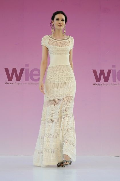 This Catherine Malandrino dress would be perfect for a casual wedding or a more mature bride.