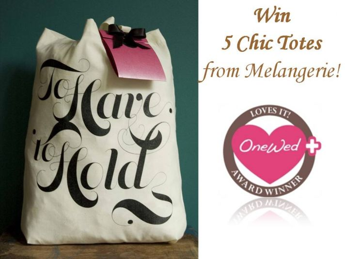 Win 5 chic tote bags from Melangerie! Just comment on any Savvy Scoop blog post to enter!